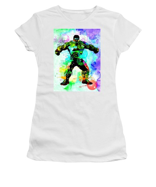 Hulk Watercolor Women's T-Shirt (Junior Cut) by Daniel Janda