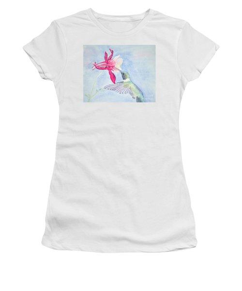 Hummingbird And Columbine Women's T-Shirt