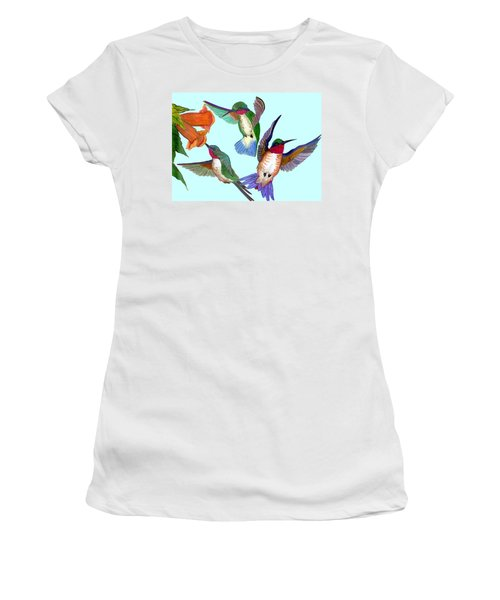 Hummingbirds Women's T-Shirt (Athletic Fit)