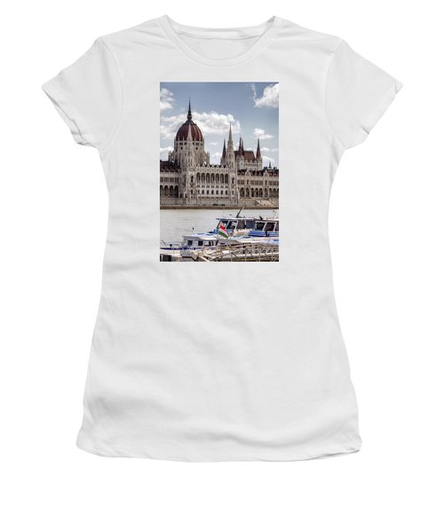 Hungarian Parliament Across The Danube Women's T-Shirt (Athletic Fit)