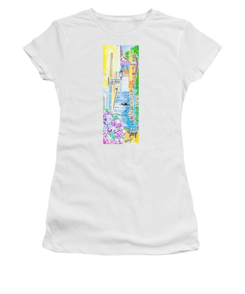 Hydrangeas And The Hotel Women's T-Shirt