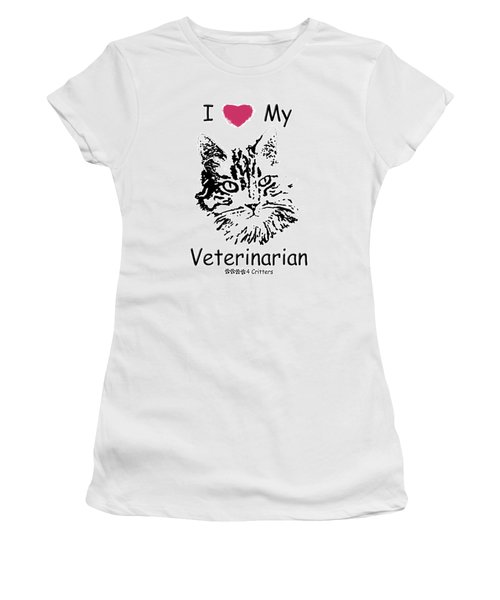I Love My Veterinarian Women's T-Shirt (Athletic Fit)