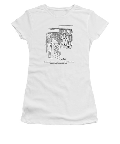 I Understand The Sex Scenes Have Been Removed But Women's T-Shirt (Junior Cut) by Peter Steiner