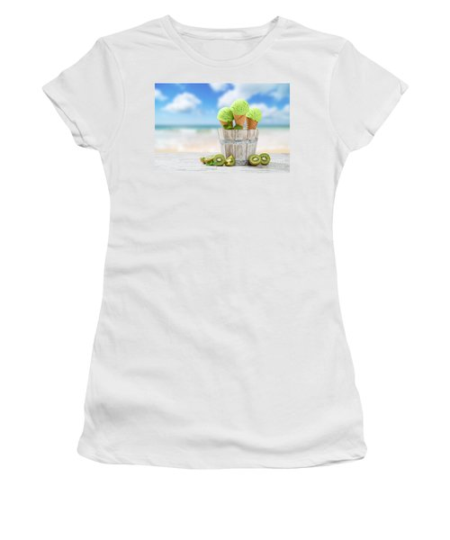 Ice Cream At The Beach Women's T-Shirt (Athletic Fit)