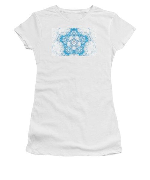 Women's T-Shirt (Junior Cut) featuring the digital art Ice Crystals by GJ Blackman