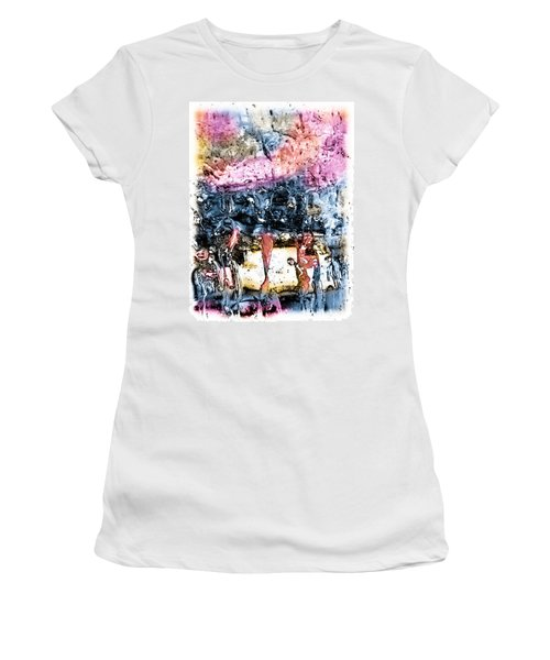 Ice Number Four Women's T-Shirt (Junior Cut) by Bob Orsillo