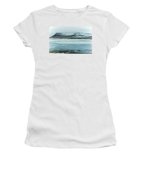 Icelandic Winter Landscape Women's T-Shirt (Athletic Fit)
