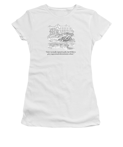 I'd Like To Give Congressional Obstructionists Women's T-Shirt