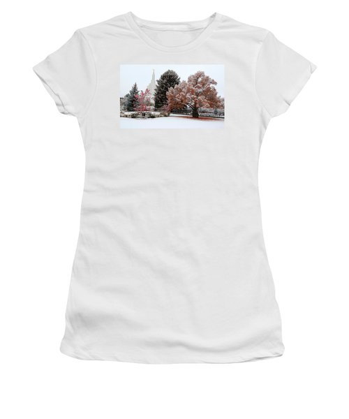 Idaho Falls Temple Winter Women's T-Shirt