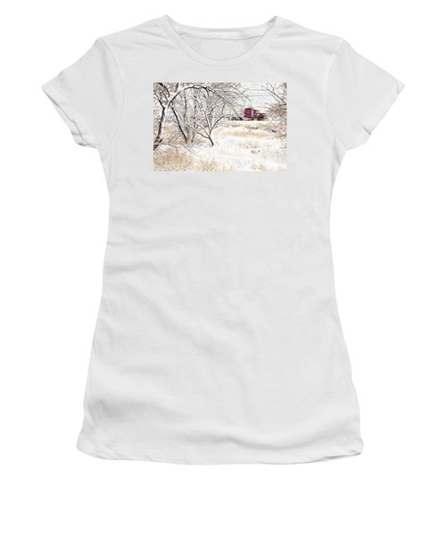 I'll Be Home For Christmas Women's T-Shirt (Athletic Fit)