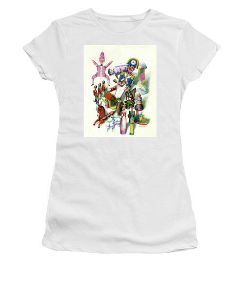 Illustration Of A Group Of Children's Toys Women's T-Shirt