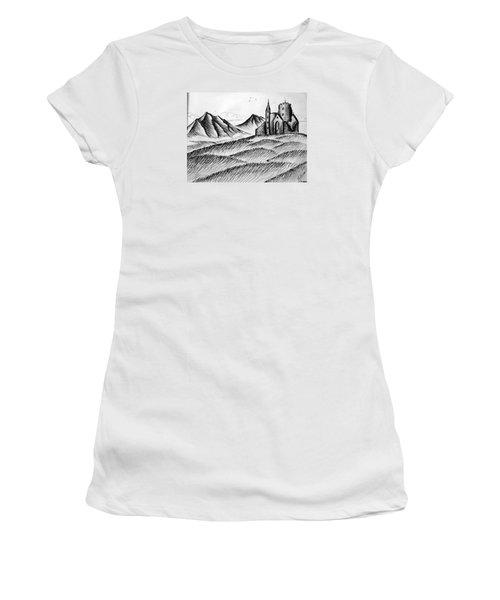 Women's T-Shirt (Junior Cut) featuring the painting Imagination by Salman Ravish