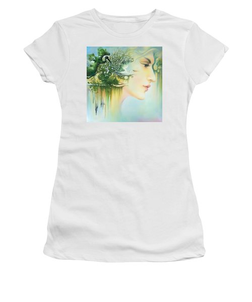 In The Fluter Of Wings-in The Silence Of Thoughts Women's T-Shirt (Athletic Fit)