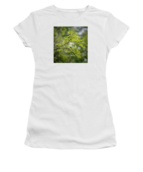 Women's T-Shirt (Junior Cut) featuring the photograph In The Green by Kerri Farley