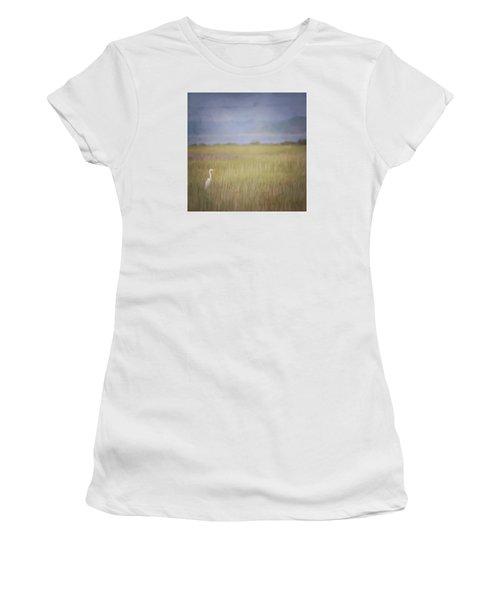 Women's T-Shirt (Junior Cut) featuring the photograph In The Marsh  by Kerri Farley
