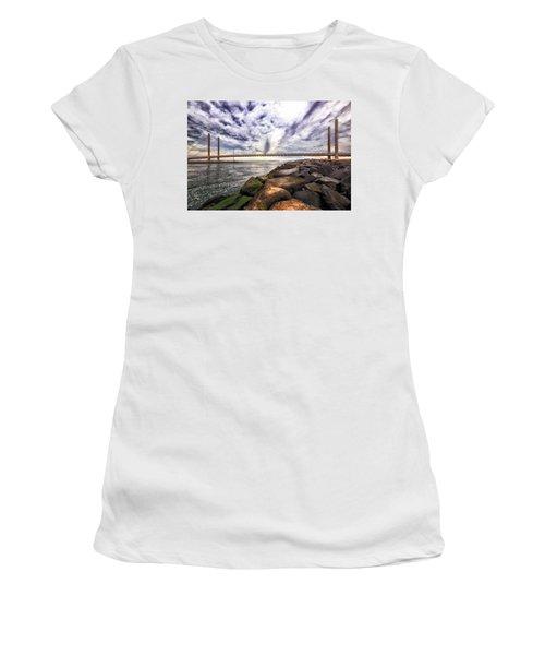Indian River Bridge Clouds Women's T-Shirt