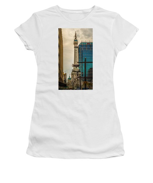 Indiana - Monument Circle With State Capital Building Women's T-Shirt