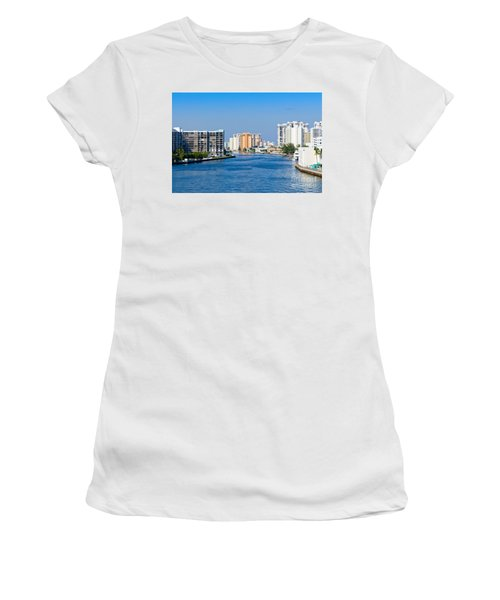 Intracoastal Waterway In Hollywood Florida Women's T-Shirt (Athletic Fit)