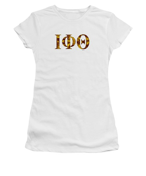Iota Phi Theta - White Women's T-Shirt (Junior Cut) by Stephen Younts