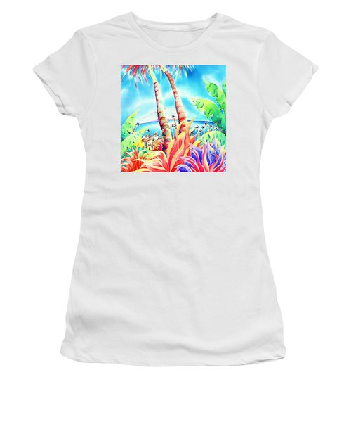 Island Of Music Women's T-Shirt (Athletic Fit)