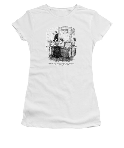 Isn't It About Time We Stopped Being Reaganites Women's T-Shirt (Junior Cut)