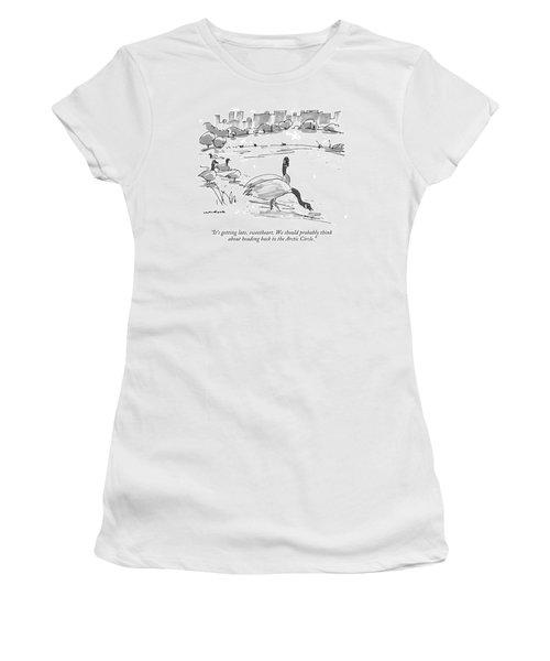 It's Getting Late Women's T-Shirt
