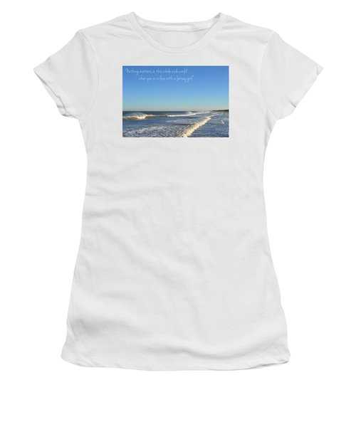 Jersey Girl Seaside Heights Quote Women's T-Shirt (Athletic Fit)