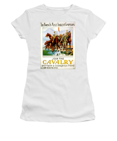 Join The Cavalry 1920 Women's T-Shirt (Junior Cut) by Padre Art