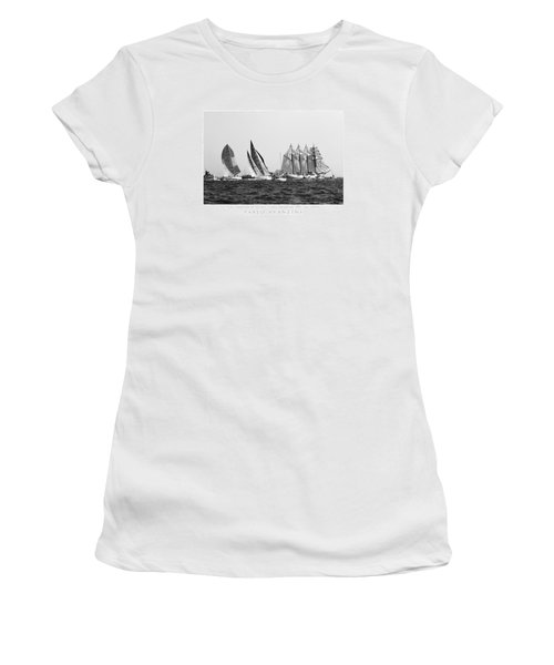 Juan Sebastian Elcano Departing The Port Of Cadiz Women's T-Shirt