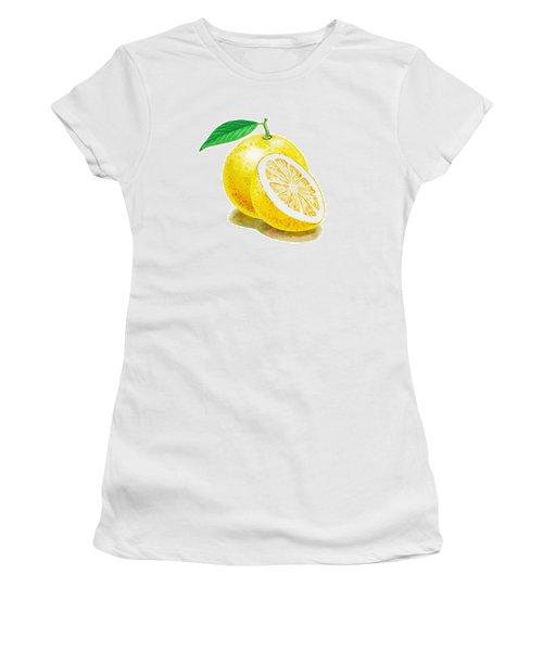 Juicy Grapefruit Women's T-Shirt (Junior Cut) by Irina Sztukowski