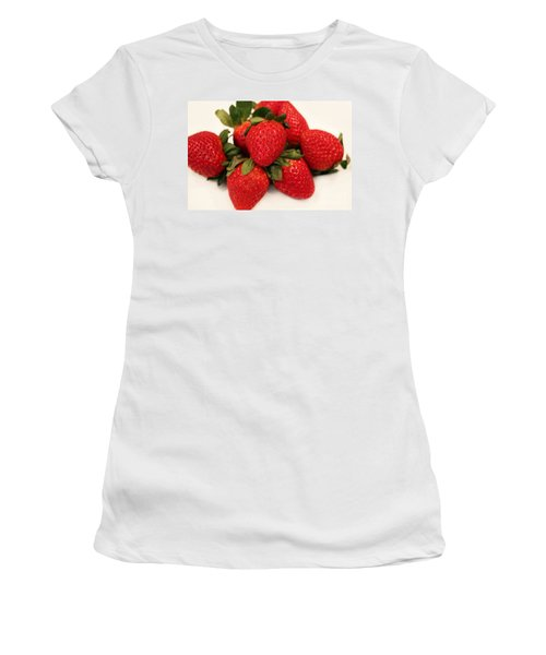 Juicy Strawberries Women's T-Shirt (Athletic Fit)