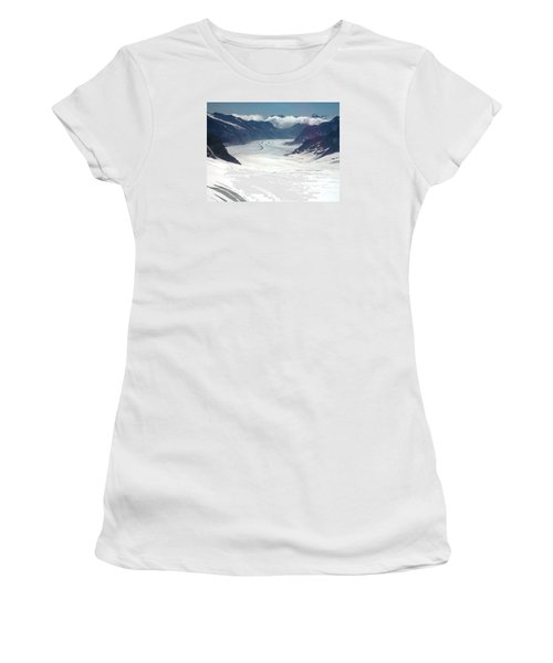 Jungfrau Glacier Women's T-Shirt (Athletic Fit)
