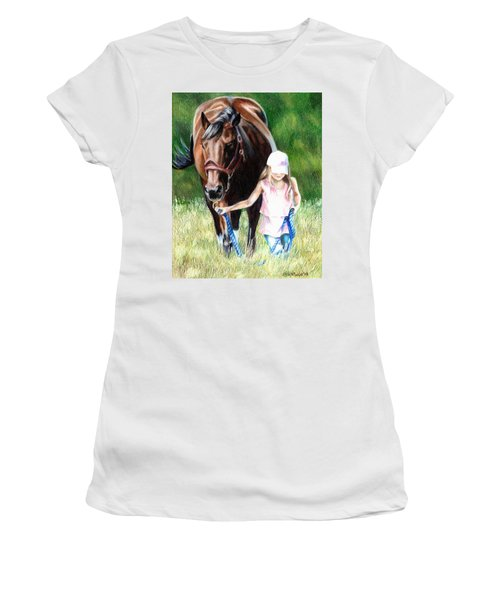 Just A Girl And Her Horse Women's T-Shirt (Athletic Fit)