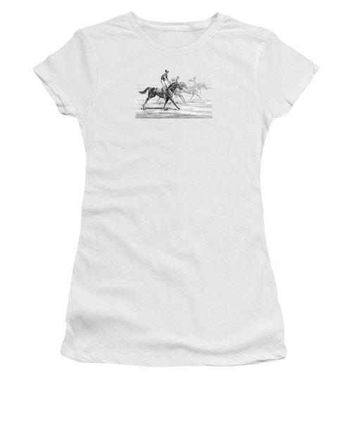 Just Finished - Horse Racing Print Women's T-Shirt