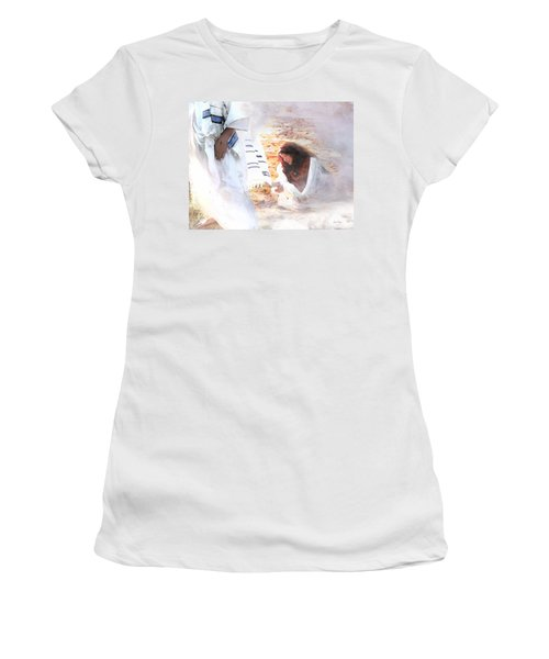 Just One Touch Women's T-Shirt (Athletic Fit)
