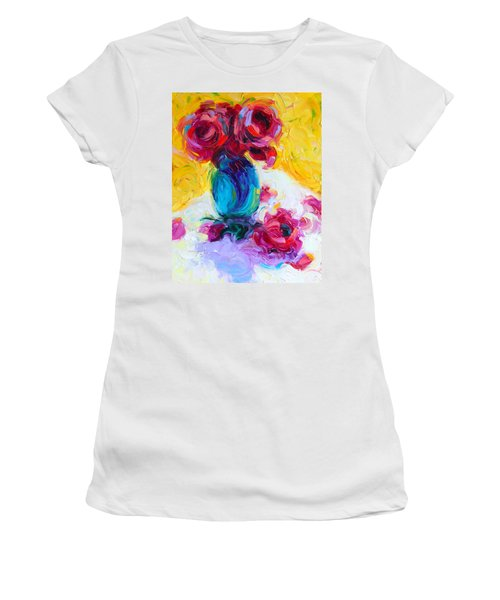 Just Past Bloom - Roses Still Life Women's T-Shirt