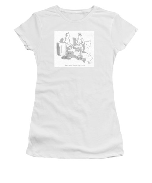 Just Think! We're In Italy At Last Women's T-Shirt (Junior Cut) by Chon Day