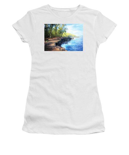Kaloli Point Hawaii Women's T-Shirt (Junior Cut) by Ellen Cotton