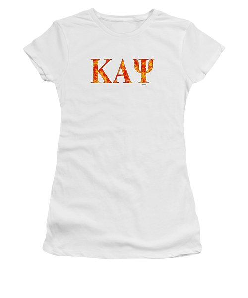 Kappa Alpha Psi - White Women's T-Shirt (Junior Cut) by Stephen Younts