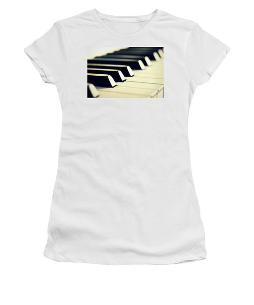 Keyboard Of A Piano Women's T-Shirt (Athletic Fit)