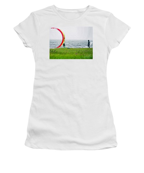 Kite Boarder Women's T-Shirt (Athletic Fit)
