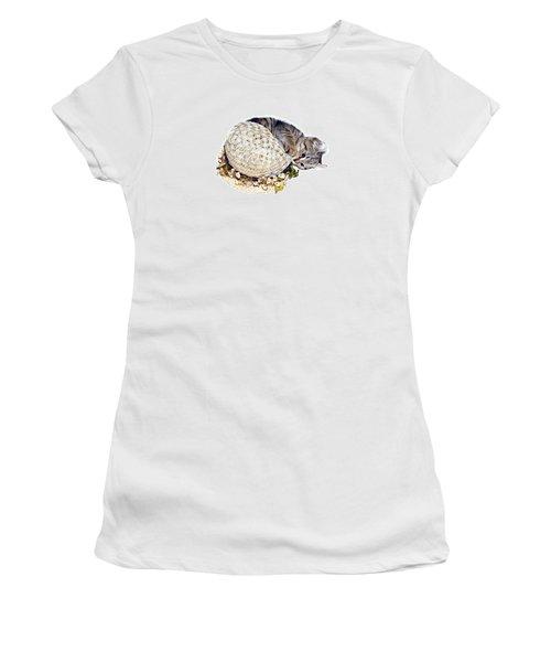 Women's T-Shirt (Junior Cut) featuring the photograph Kitten With An Easter Bonnet by Susan Leggett