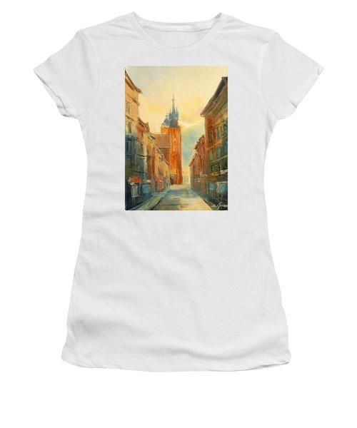 Krakow Florianska Street Women's T-Shirt (Athletic Fit)