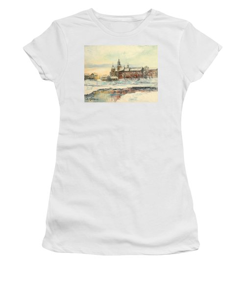 Krakow - Wawel Castle Winter Women's T-Shirt