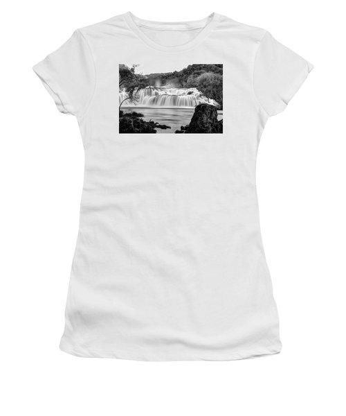 Krka Waterfalls Bw Women's T-Shirt (Athletic Fit)