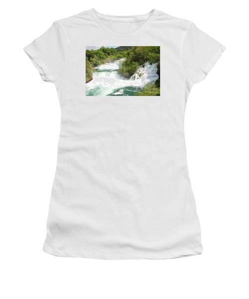 Krka Waterfalls Croatia Women's T-Shirt (Athletic Fit)