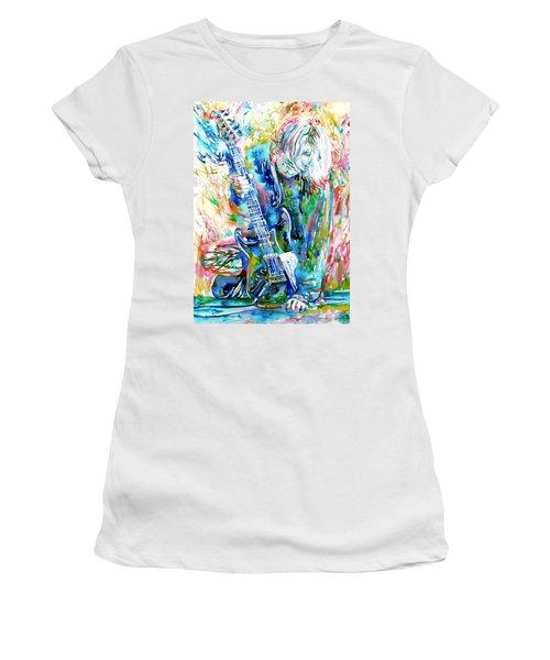 Kurt Cobain Portrait.1 Women's T-Shirt (Athletic Fit)