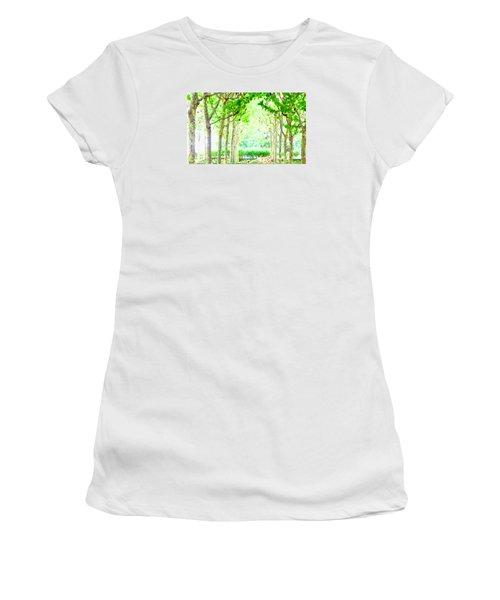 La Defense Platanuses Women's T-Shirt (Junior Cut) by Oleg Zavarzin