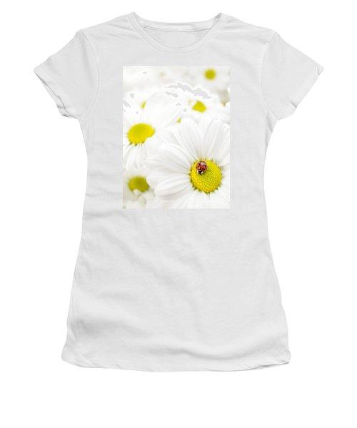 Ladybug On Daisies Women's T-Shirt