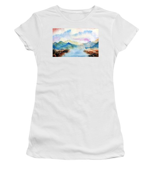 Lake Chuzenji Nikko Women's T-Shirt (Junior Cut)